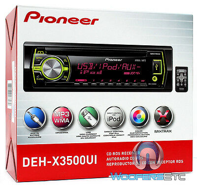 PIONEER DEH-X3500UI CD MP3 WMA PANDORA IPOD USB AUX SD EQUALIZER 200W CAR STEREO on Rummage
