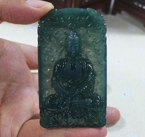 Masterpiece Natural Type A Icy Jadeite Jade Sakyamuni Buddha Pendant 9974普渡衆生
