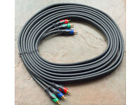 Maplin 3 Phono Composite Video Cable 5m long