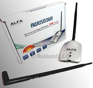 1000mW-Alfa-USB-Wireless-Adapter-9-dBi-ANTENNA-AWUS036H-ARS-N19-mount-combo