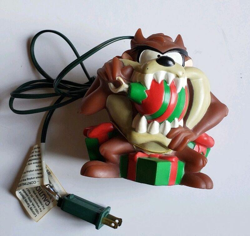 Looney Tunes Tazmanian Devil Christmas Plug In Light 1997 Vintage Taz Works
