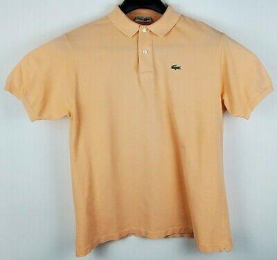 Men's Lacoste Vintage Classic Fit La Chemise Peach Polo Size 7 Large Made France