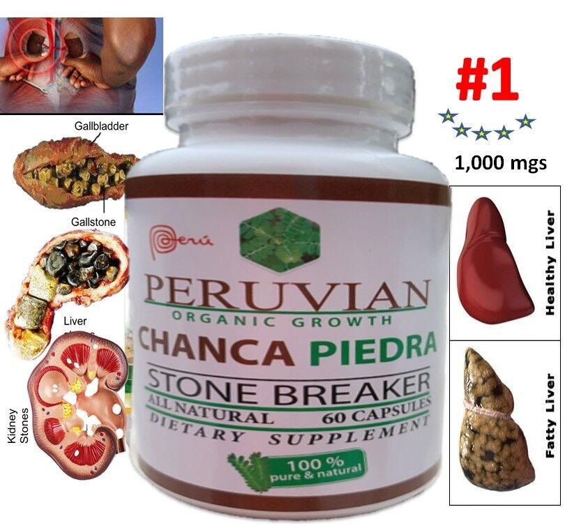 CHANCA PIEDRA phylantus niruri -Stone Breaker Liver Tonic organic growth 60 caps