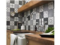 Parian Grey/DarkGrey/Patterened Tiles 142mmx142mm