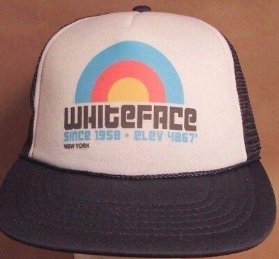 Whiteface Hat Cap Trucker Snapback New York USA Printed Unisex New fe29bbf830be
