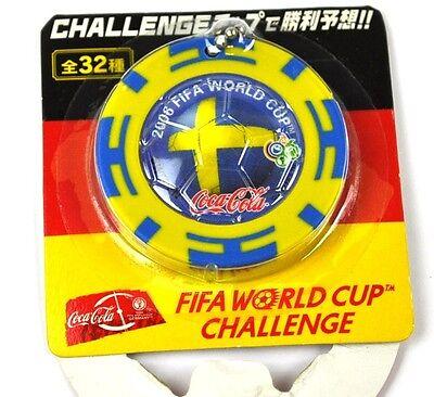 Coca-Cola Coke Schlüsselanhänger aus Japan WM 2006 - Schweden