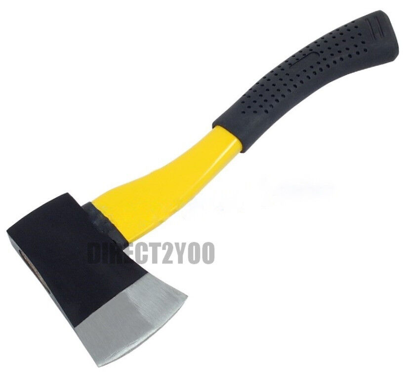 Hand AXE Hatchet Fibreglass Handle Shaft 1.5lb 680gm Chopper Split Wood Kindling