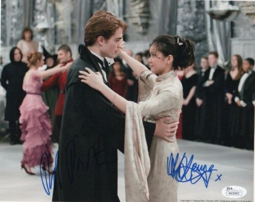Robert Pattinson Katie Leung Harry Potter Autographed Signed 8x10 Photo JSA COA