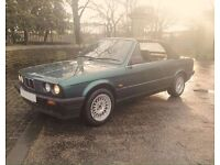 BMW E30 318 Cabriolet convertible new roof full leather retro immaculate no rust bargain