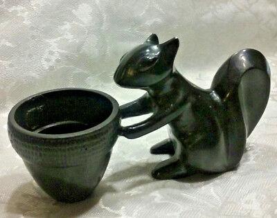 Christmas Present - Gift Idea Sturdy Squirrel Basket Toothpick Holder Cast Iron  ()