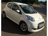 RARE! 2011 Citroen C1 VTR+ 1.0 AUTO 64K MILES AUTOMATIC 5 DOOR WHITE £20 A YEAR ROAD TAX HPI CLEAR