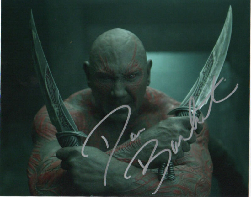 Dave Bautista Guardians of the Galaxy Autographed Signed 8x10 Photo COA C