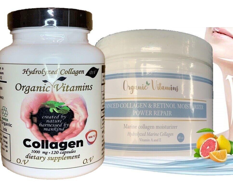 Colageno Hidrolizado Para Huesos ,Uñas, Piel + Crema de Colageno Antiarrugas 120