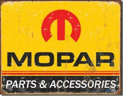 MOPAR Logo Parts And Accessories Classic Nostalgic Tin Metal Sign Made In USA