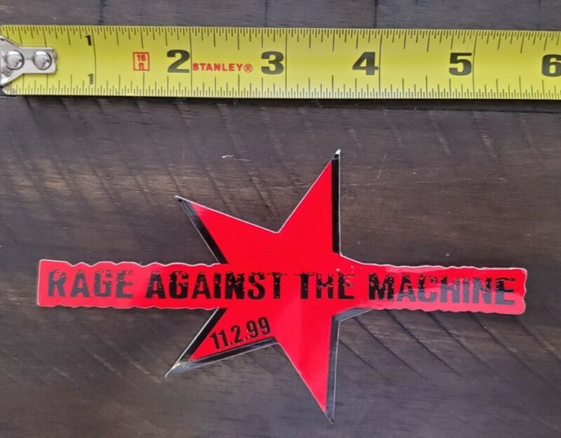 RAGE AGAINST THE MACHINE VINTAGE 1999 STICKER BATTLE FOR LOS ANGELES KORN