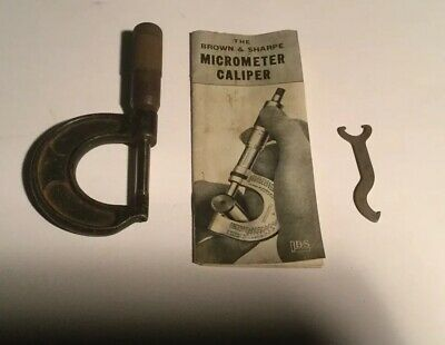 Brown Sharpe Vintage Micrometer Caliper No 11 Original Wood Box And Paperwork