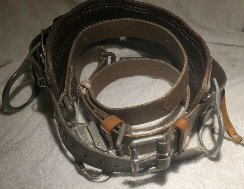 BASHLIN Nylon Deluxe Lineman's Toolbelt 160N size D20 with Pole Strap