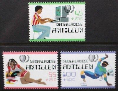 NETHERLANDS ANTILLES 1985 International Youth Year. Set of 3. MNH. SG885/887.