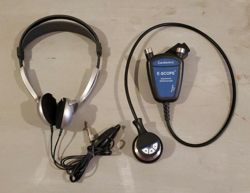 Cardionics E-Scope Electronic Stethoscope 718-7710 HeadphonesHearing Impaired