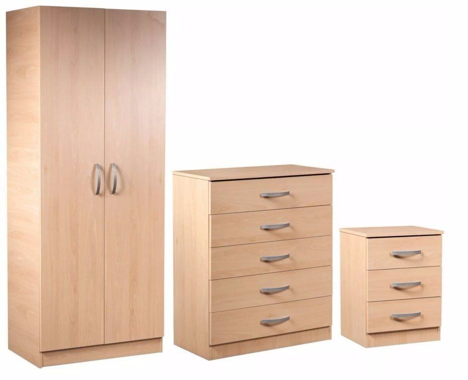 *100% GUARANTEED PRICE!*Brand New Wardrobe Set With Bedside Table & Chest Of Drawer-Same DayDelivery