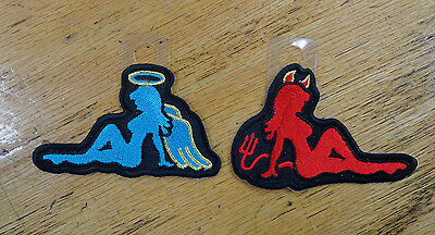 ANGEL AND DEVIL EMBROIDERED PATCH 2 PIECE SET - Angel And Devil