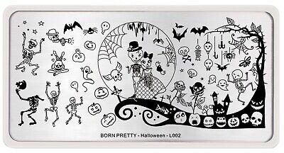 Halloween Nails Zombie (Zombie Bride Bat Image Nail Art Template Halloween Day)