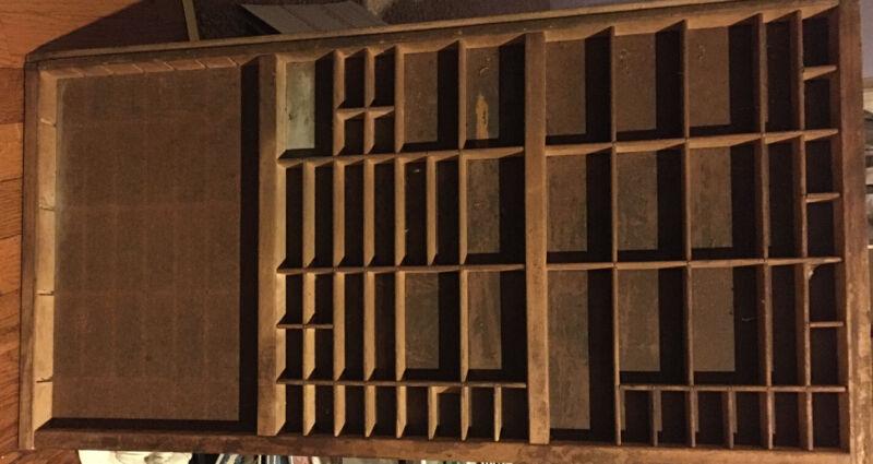 PRINTER TYPE CASE DRAWER  California wood Typecase Tray Letterpress