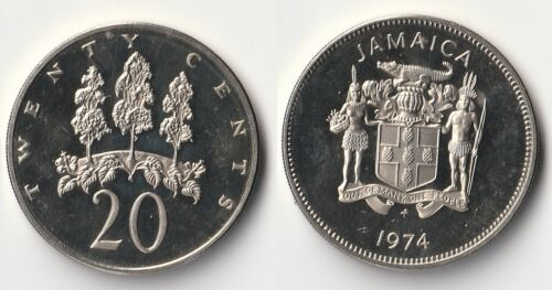 1974 Jamaica 20 cents coin proof