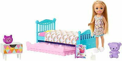 Barbie Bunk bed Trundle Furniture Doll Playset NEW Mattel Dollhouse NIB Chelsea