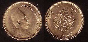 20 Piaster Gold Ägypten 1929, Fuad I., selten!
