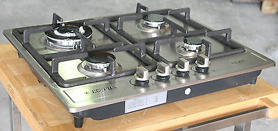 Propane Gas Stove Built In - Counter Top 4 Burner Cooktop Range Stainless Steel on Rummage