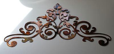 Ornamental Scroll (Ornamental Scroll Copper/Bronze Plated Metal Wall Decor 15