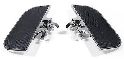 Trittbretter Set verstellbar Chrom Vorne / hinten für Harley Davidson HD Custom
