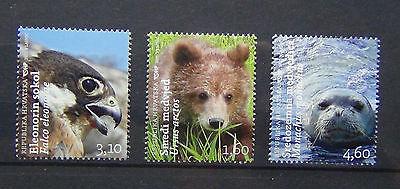 Croatia 2011 Animals set MNH Bear Falcon Seal