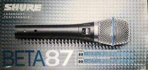 New Shure Beta 87A Supercardioid Condenser Vocal Microphone Karaoke USA