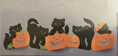 Vintage Hallmark Party Express Halloween Black Cats Pumpkins Table Decoration