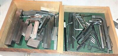 Vintage Machinist Tools - Lot Of Lathe Cutting Tool Bits Allen Wrenches