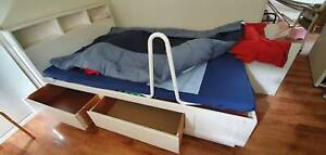 Free Wooden Double Bed with Drawers (200L x 141W)