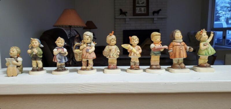 Group Of 9 Hummel Figurines
