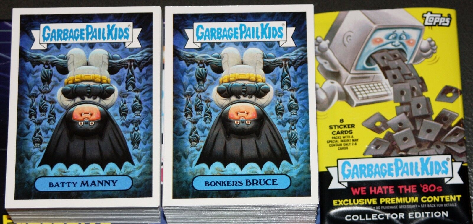 2018 GARBAGE PAIL KIDS WE HATE THE 80'S COMPLETE SET 180 CARDS + FREE WRAPPER