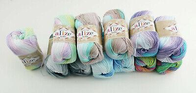 100% Wolle (Alize Wolle Alize Bella Batik 100% Baumwolle Sommergarn türkische Wolle 50g/180m)