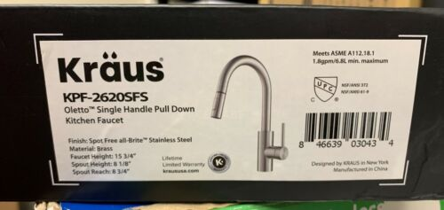 Kraus KPF-2620 Oletto Pull Down Kitchen Faucet - Stainless Steel