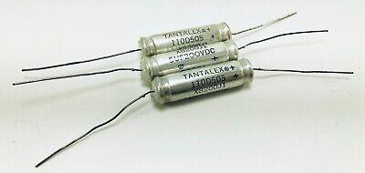 100uF 25v  Sprague Axial Tantalum Capacitors  NOS  Lot of 4 pcs.