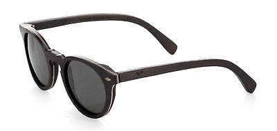 Shwood Florence Polarized Wood Keyhole Sunglasses Rosewood Frame Grey Lenses USA