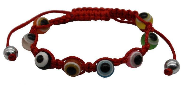 Mix Evil Eye Beads Red String Ethnic Bracelet Good Luck Protection success