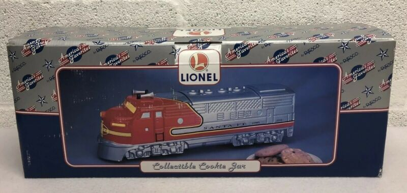 Enesco Lionel Santa Fe 2333 Locomotive Train Collectible Ceramic Cookie Jar 17""