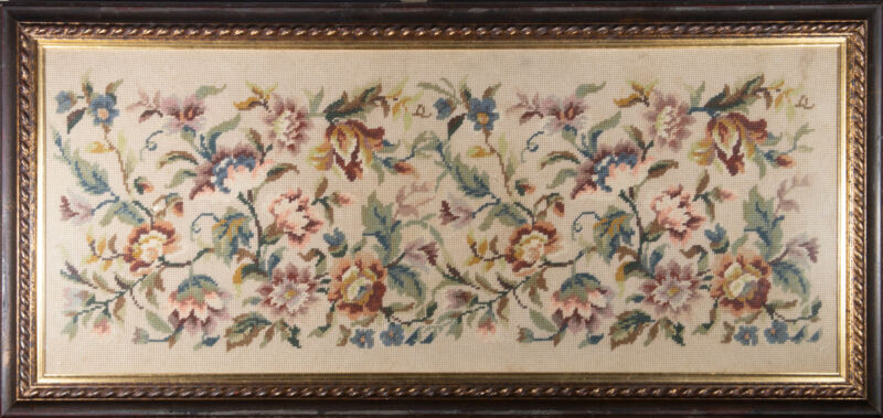 Early 20th Century Embroidery - Flowers and Leaves