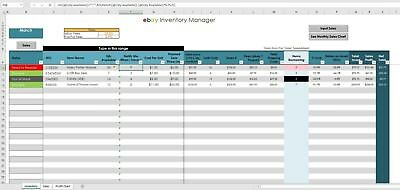 (2018 eBay Sales & Inventory Tracker (Excel / PC Windows / Office ) USER FRIENDLY)