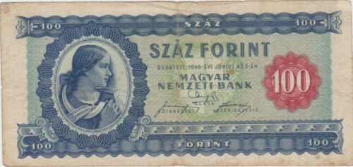 HUNGARY 100 FORINT 1946 F