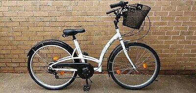 "Ladies B'Twin City bike - White 17"" Frame"